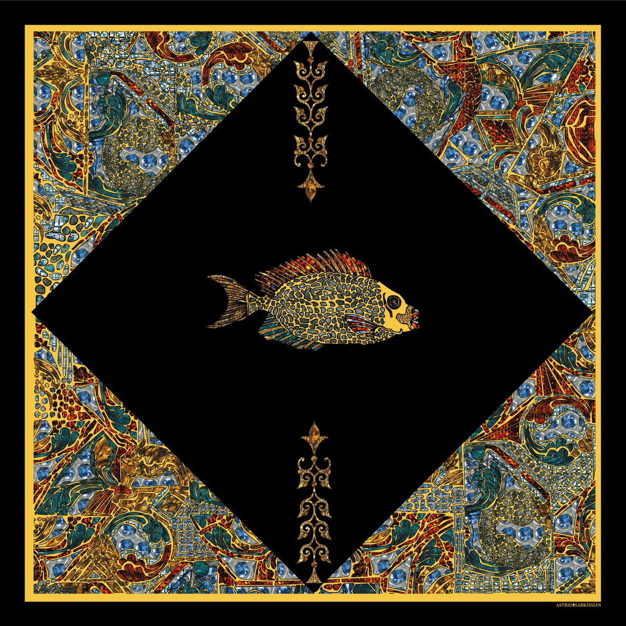 Fish 2 Yellow BG Black